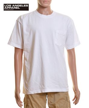6.5oz S/S Pocket Tee/WHホワイト L